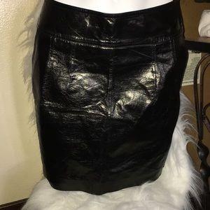 New women's black skirt .